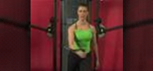 Exercise with the standing 1 arm cable fly
