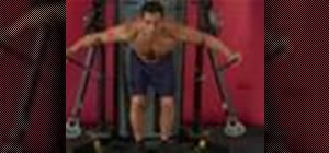 Exercise with the bent over reverse cable fly