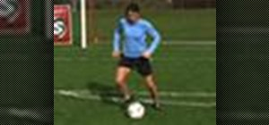Dribble with the outside of the foot during soccer