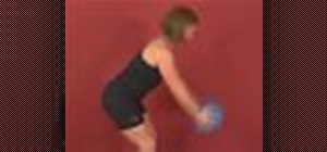 Exercise with standing back extension w/ medicine ball