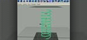 Use dynamics springs in Maya