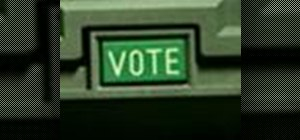 Operate the ELECTronic 1242 voting machine