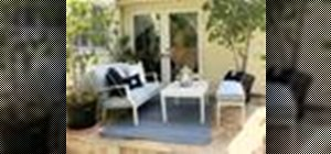 Create a patio with feng shui and attract money