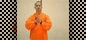 Perform Shaolin kung fu stretches and moves