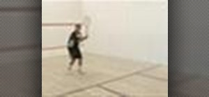Play basic squash drills