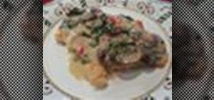 Cook chicken A La Romana with prosciutto