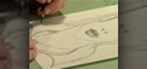 Draw a portrait on coquille paper