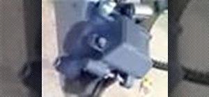 Change rear brake pads on a motorcycle
