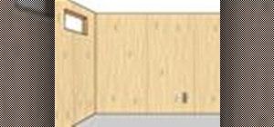 Install basement paneling