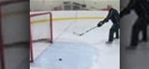Perform a backhand shot