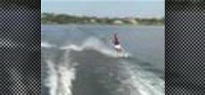 Cross wake on water skis