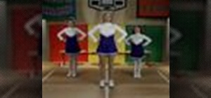Practice the Chantilly lace cheerleading technique
