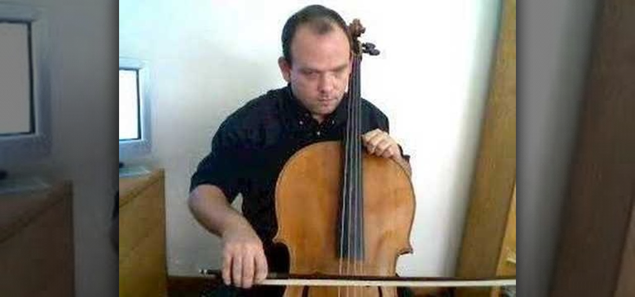 how to hold a cello