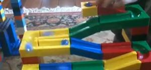 Block-N-Roll Lego Marble Run Construction