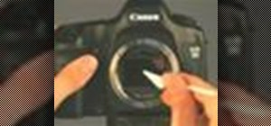 Clean the sensor on a Canon EOS digital camera