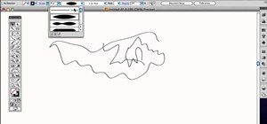 Use the standard Brush tool in Adobe Illustrator CS4 or CS5
