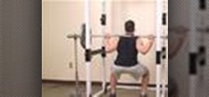 Do barbell squats with chains