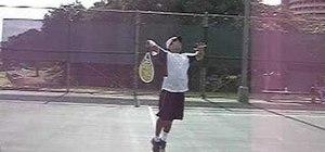 Serve a jump serve in tennis