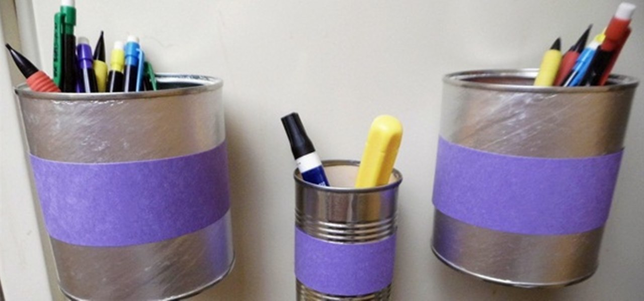 Organize your odds and ends with these easy diy magnetic bins macgyverisms wonderhowto - Simple ways of keeping your home organized using magnetic picture frames ...