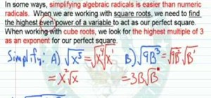 Simplify expressions involving algebraic radicals