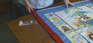 Make an easy fabric panel quilt for Project Linus