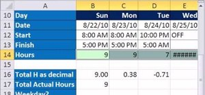 Calculate hours worked while subtracting lunch hours in Excel 2010