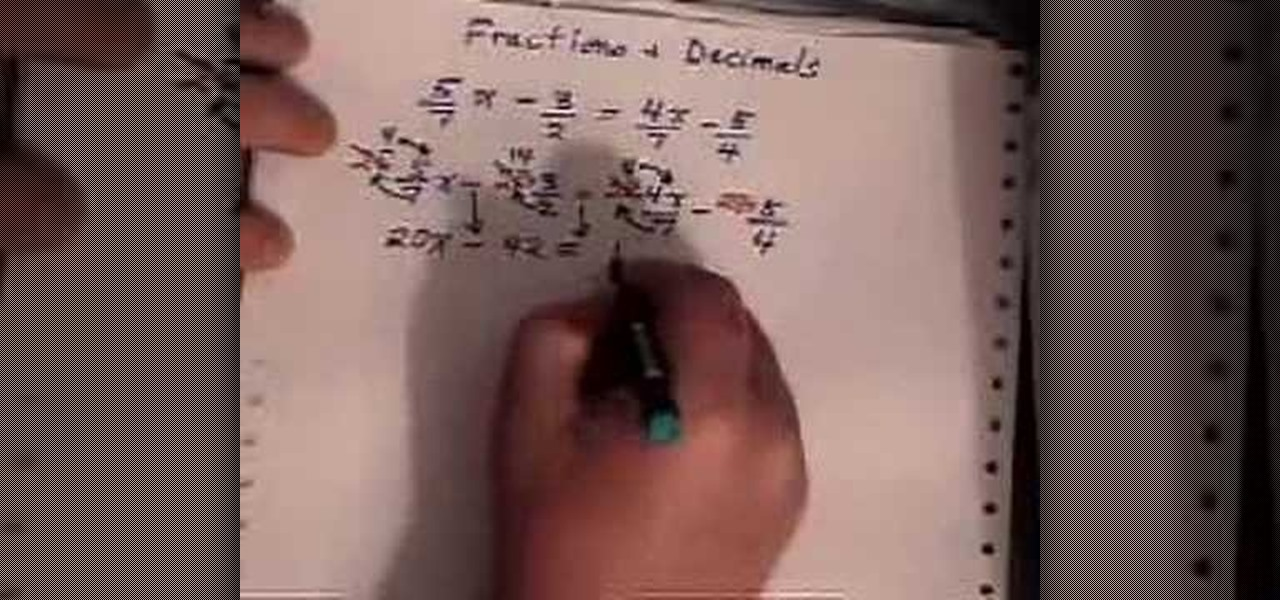 How to Solve linear equations with fractions in algebra ...