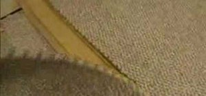 Seam together two carpets