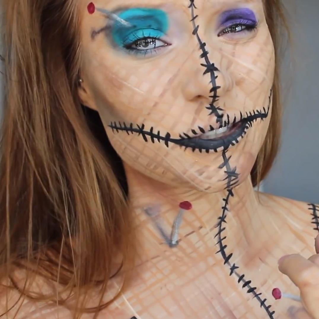 Be a Human Pincushion for Halloween: DIY Voodoo Doll Costume & Makeup
