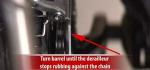 Adjust a front derailleur on a mountain bike