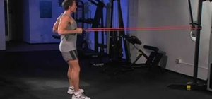 Strengthen your back with tube rows