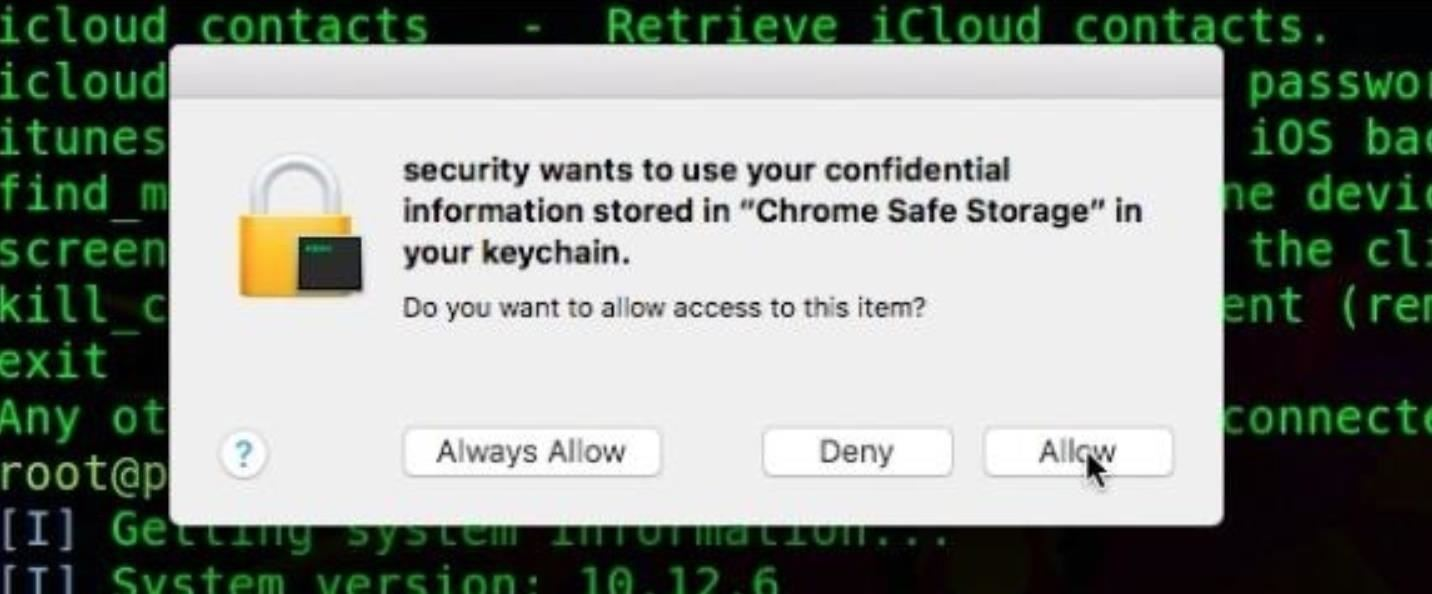 How to Dump a MacOS User's Chrome Passwords with EvilOSX