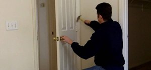 Repair a self-closing door
