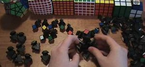 Disassemble and reassemble the 5x5 Rubik's Cube puzzle