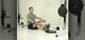 Tone your back with a seated row to chin exercise