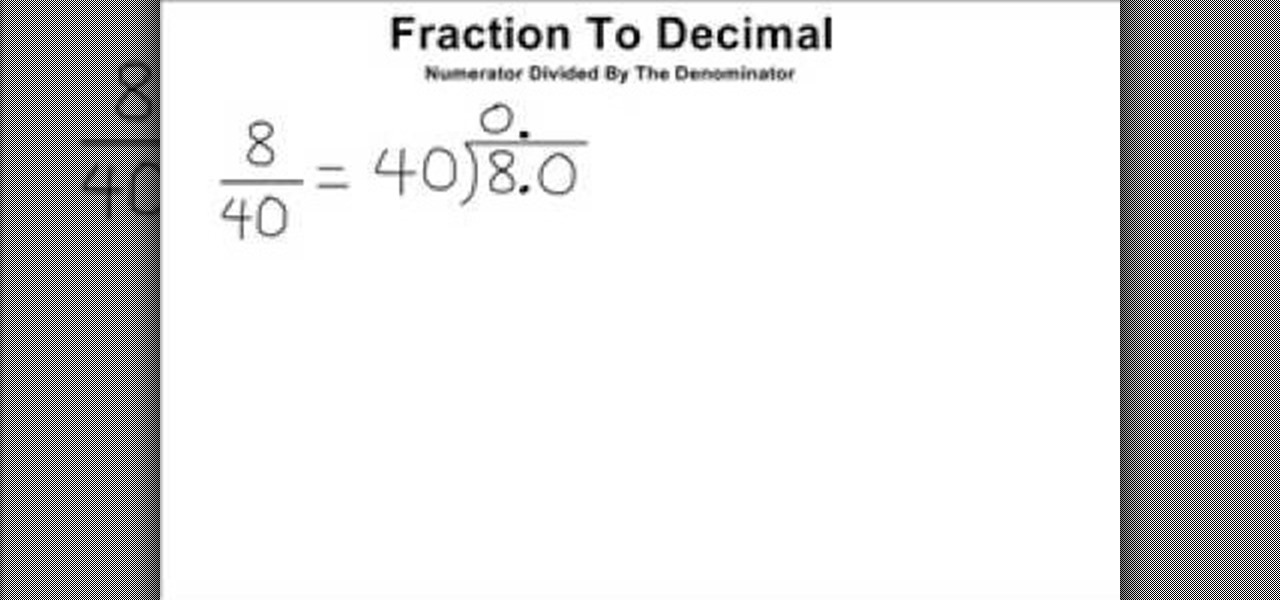 Fraction decimal homework