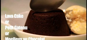 Make a scrumptous, flaky chocolate lava cake