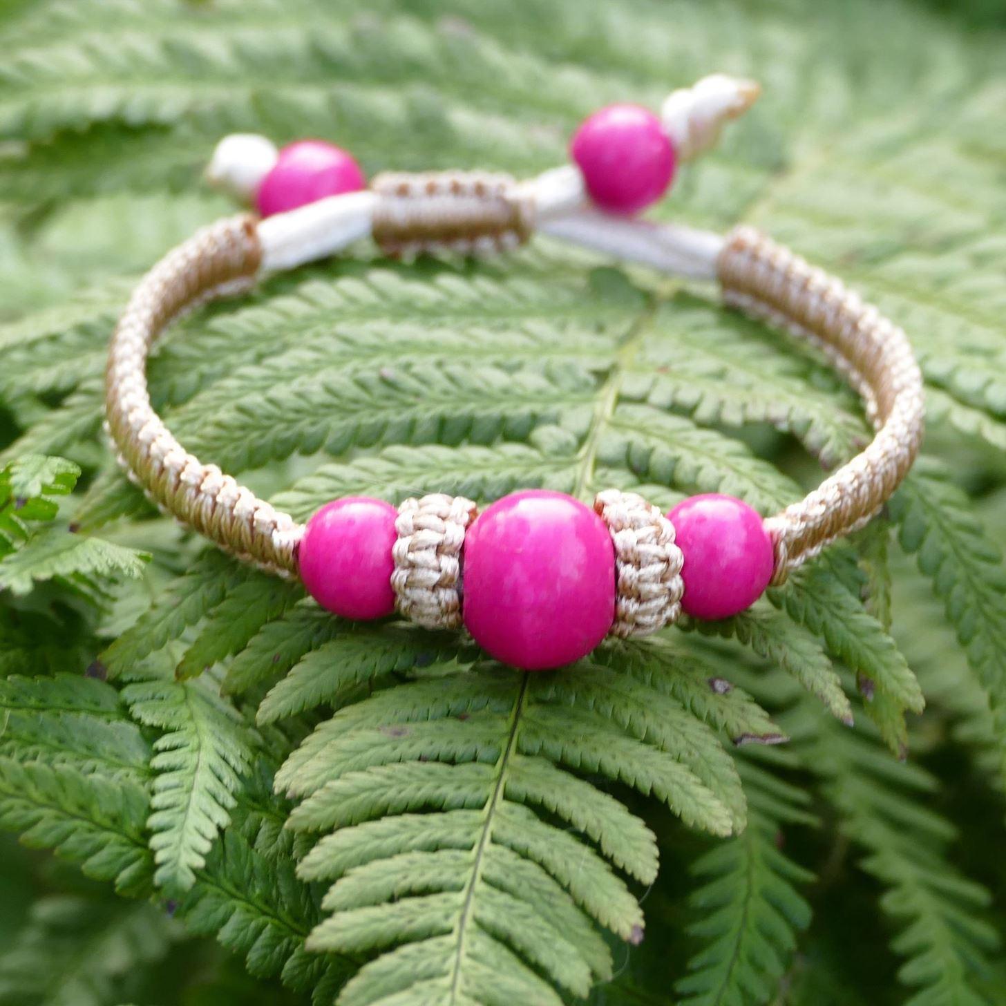 DIY Easy Square Knot Beads Bracelet