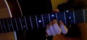 """Play """"Romulus"""" by Sufjan Stevens on acoustic guitar"""