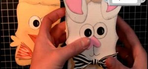Craft spring/Easter bunny and chick boxes