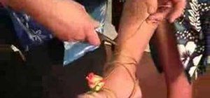 Create a sweetheart rose wire anklet for a wedding