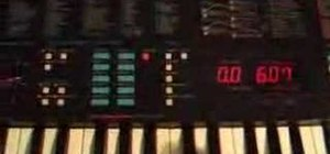Use a Yamaha PSS 780 synthesizer