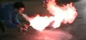 breathe (cornstarch) fire and not die