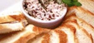 Make a simple kalamatta olive butter spread