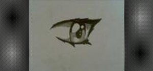 Draw an anime eye step by step