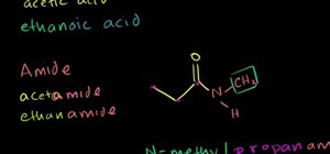 Work with amides, anhydrides, esters and acyl chlorides in chemistry