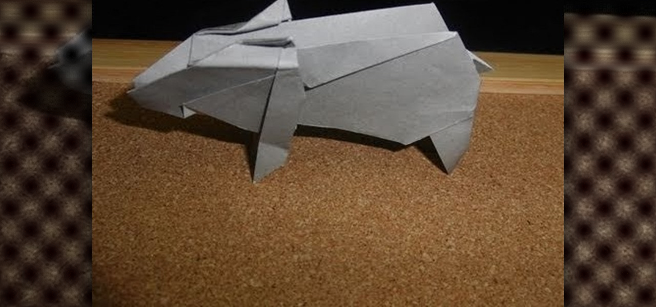 how to fold an origami boar from the chinese zodiac