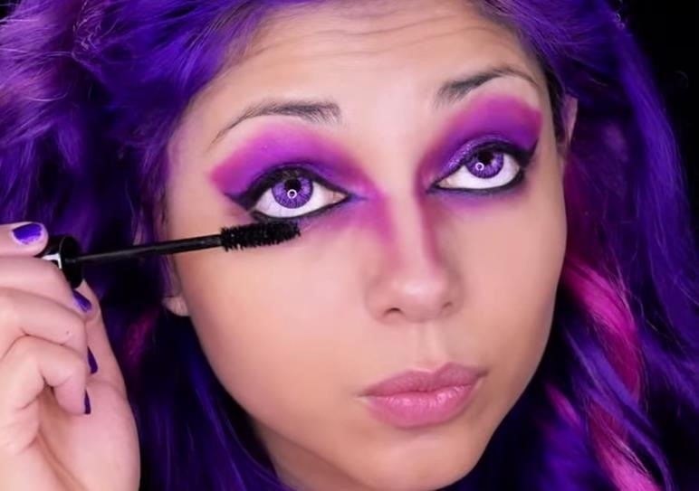 How to Perfect the Cheshire Cat's Purple Makeup Look for Halloween