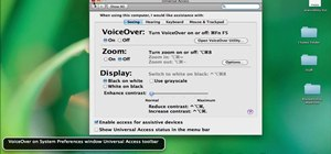 Enable the VoiceOver text-to-speech feature on an Apple MacBook laptop