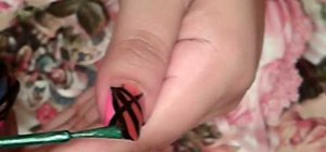 Paint your nails with a stained glass art design